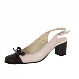Pantofi din piele naturală cod 306 Bej