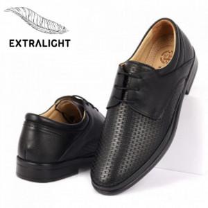 Pantofi din piele naturală cod 4356 Negri
