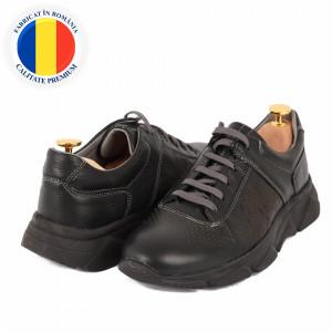 Pantofi din piele naturală cod 5332 Negri