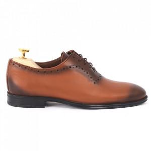 Pantofi din piele naturală cod 5455 - Pantofi din piele naturală, model simplu, finisaje îngrijite cu undesign deosebit - Deppo.ro