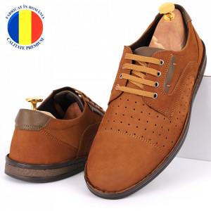 Pantofi din piele naturală Cod 640 Maro