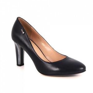 Pantofi din piele naturală cod 7N Black