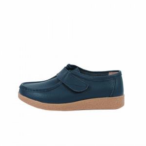Pantofi din piele naturală cod 8518 Navy