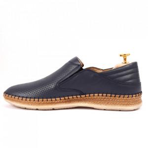 Pantofi din piele naturală cod 85229 Bleumarin închis - Pantofi din piele naturală pentru bărbați, model simplu, finisaje îngrijite cu un design deosebit și pernă de aer - Deppo.ro