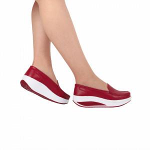Pantofi din piele naturală cod A339 Roși