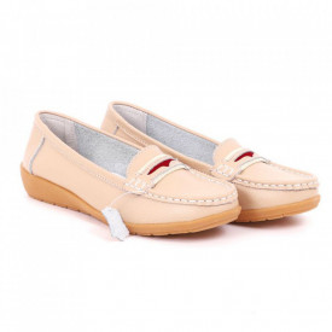 Pantofi din piele naturală Cod Z858 Galbeni - Pantofi damă din piele naturală  Foarte confortabili cu un tălpic special care conferă lejeritate chiar și în cazurile în care petreci mult timp stând în picioare. - Deppo.ro