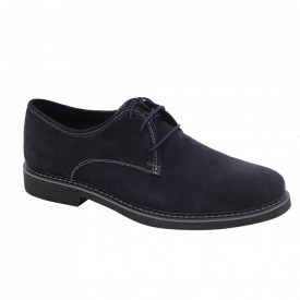 Pantofi din piele naturală întoarsă cod Alex Albastru
