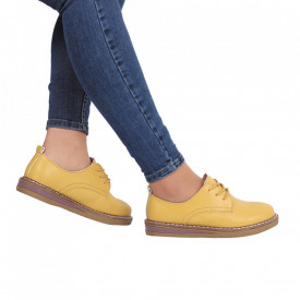 Pantofi din piele naturală Kaitlin Yellow