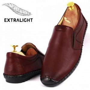Pantofi din piele naturală Kia Bordo