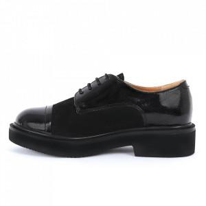 Pantofi din piele naturală negru lac Cod 482 - Pantofi damă din piele naturală, foarte confortabili cu un tălpic special care conferă lejeritate chiar și în cazurile în care petreci mult timp stând în picioare. - Deppo.ro