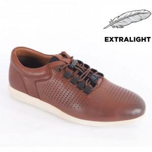 Pantofi din piele naturală pentru bărbați cod 1921 Tan