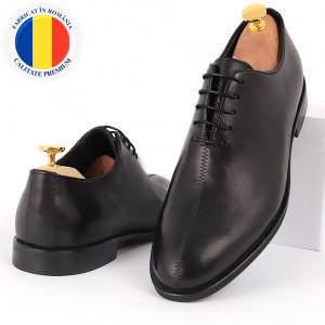 Pantofi din piele naturală pentru bărbați cod 2022 Negri
