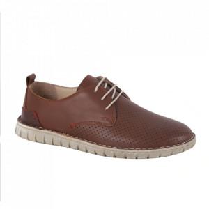 Pantofi din piele naturală pentru bărbați cod 21911 Taba