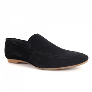 Pantofi din piele naturală pentru bărbați cod 2490 Black