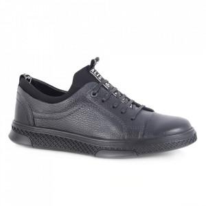 Pantofi din piele naturală pentru bărbați cod 302-1 Albastru