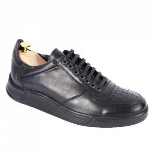 Pantofi din piele naturală pentru bărbați cod 330-1 Negru