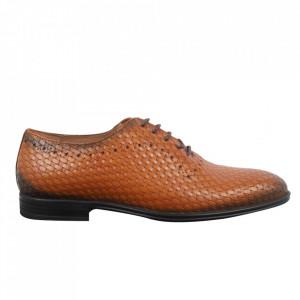 Pantofi din piele naturală pentru bărbați cod 911 Maro Deschis
