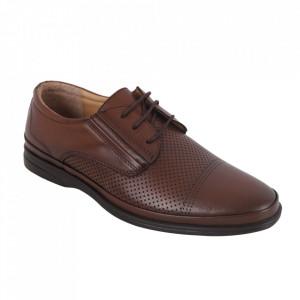 Pantofi din piele naturală pentru bărbați cod C653 Taba