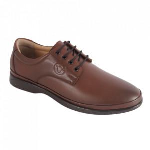 Pantofi din piele naturală pentru bărbați cod C8262 Brown