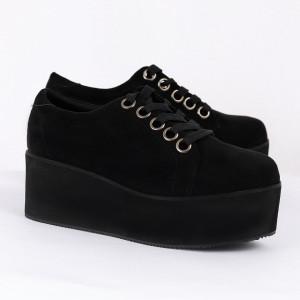 Pantofi pentru dame Cod B0008 Negri - Pantofii îți transformă limbajul corpului și atitudinea. Te înalță fizic și psihic! Pantofi pentru dame din piele ecologică lăcuită - Deppo.ro