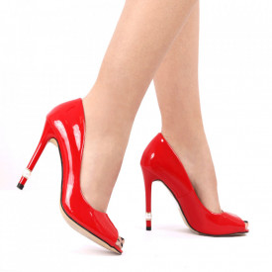 Pantofi pentru dame cod P1P2-1 RED