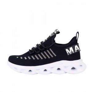 Pantofi Sport Bobby Navy - Pantofi sport pentru bărbați din piele ecologică  Închidere prin șiret  Ideali pentru ieșiri si practicarea exercitiilor în aer liber - Deppo.ro
