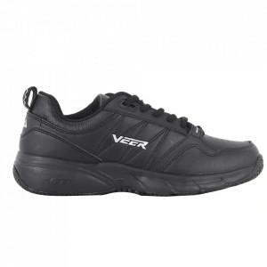 Pantofi sport din piele naturală pentru bărbați cod 9163-2 Black