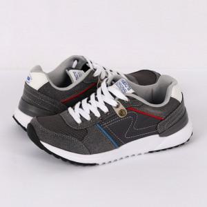Pantofi sport Griny Grey - Pantofi sport din material textil cu închidere cu șiret - Deppo.ro