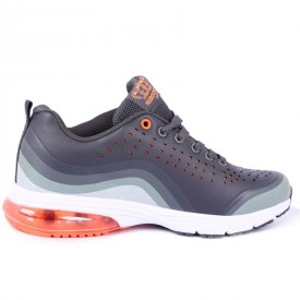 Pantofi sport Med Gray - Pantofi sport din material textil respirabil  Închidere prin șiret  Talpă din silicon - Deppo.ro