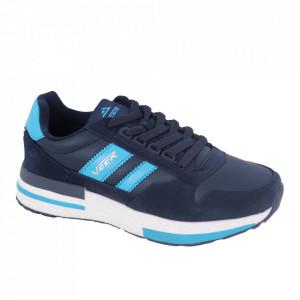 Pantofi sport pentru bărbați cod 2010-3 Deep Blue