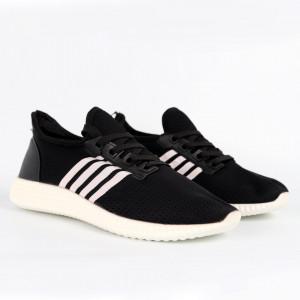 Pantofi Sport pentru bărbați cod 6113 Black - Pantofi sport pentru bărbați  Ideali pentru ieșiri si practicarea exercitiilor în aer liber - Deppo.ro