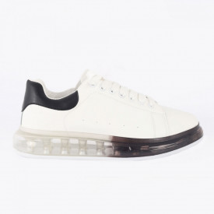 Pantofi sport pentru bărbați cod H13 White/Black