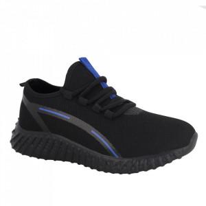 Pantofi sport pentru bărbați cod K15 Black/Blue