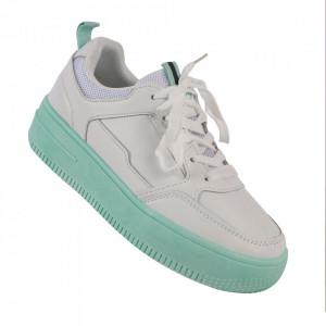 Pantofi sport pentru dame cod C108 White/Green