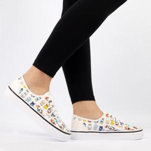 Pantofi sport pentru dame Cod TNH2209 White
