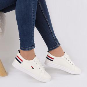 Pantofi sport Zoey Albi - Pantofi sport negrii  din material textil  si un calapod comod - Deppo.ro