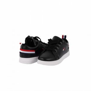 Pantofi sport Zoey Negri - Pantofi sport negrii  din material textil cu talpă albă si un calapod comod - Deppo.ro