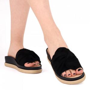 Papuci pentru dame din piele ecologică cod LTS0259 Black
