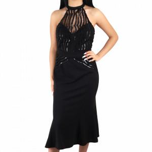 Rochie Cara Black - Rochie cu paiete neagră simte-te atrăgătoare si misterioasă purtând această rochie și atrage toate privirile la urmatoarea petrecere. - Deppo.ro