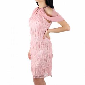 Rochie Ecrin Pink - Rochie casual roz, simte-te atrăgătoare și misterioasă purtând această rochie și atrage toate privirile la urmatoarea petrecere. - Deppo.ro