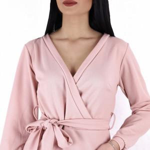 Rochie Jolie Pink - Rochie dintr-un material elastic, pentru o ținută lejeră datorita croiului. Cu un decolteu in V șicroiul lejer iti asigura libertatea de miscare. - Deppo.ro