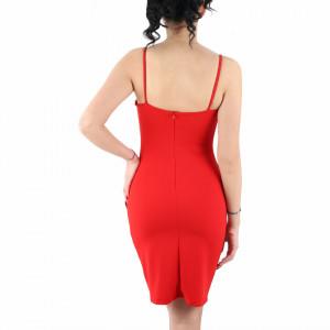 Rochie Kamora Red - Rochie elegantă, mulată cu spatele gol, completează-ți ținuta și strălucește la următoarea petrecere. - Deppo.ro