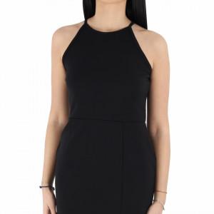Rochie Leomis Black - Rochie neagră elegantă scurtă fără maneci, usor de accesorizat fiind ideală pentru orice eveniment. - Deppo.ro