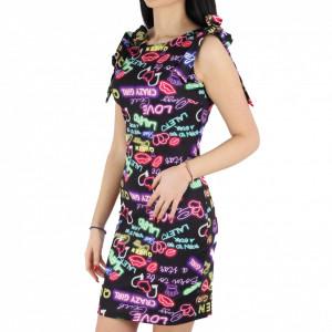 Rochie Party Black - Rochie elegantă, mulată cu spatele gol, completează-ți ținuta și strălucește la următoarea petrecere. - Deppo.ro