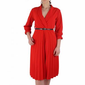 Rochie Plisată Roşie