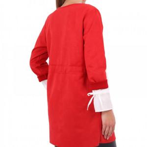 Sacou Loreta Roșu - Cumpără îmbrăcăminte și încăltăminte de calitate cu un stil aparte mereu în ton cu moda, prețuri accesibile și reduceri reale, transport în toată țara cu plata la ramburs - Deppo.ro