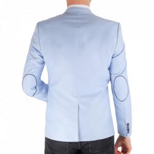 Sacou SC-152 Blue - Ideal pentru o ținută casual de zi care poate fii purtat atât cu cămașă cât și cu helancă - Deppo.ro