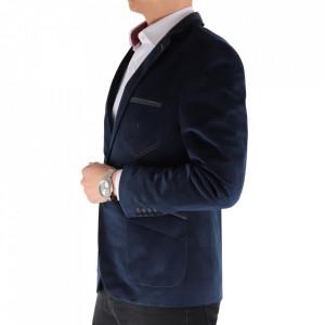 Sacou SC-175 Navy - Ideal pentru o ținută casual de zi care poate fii purtat atât cu cămașă cât și cu helancă Compoziție: 85% bumbac, 15% polyester - Deppo.ro