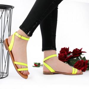 Sandale cu talpă joasă cod M35 Lemon