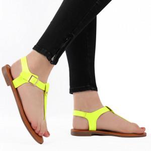 Sandale cu talpă joasă cod M41 Lemon
